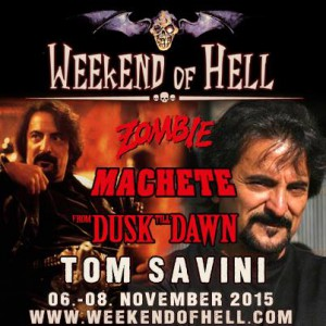 Tom Savini, vom Weekend of Hell angekündigt