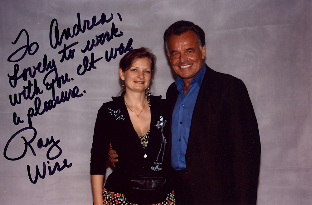 Andrea Krüger mit Ray Wise